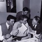 Louis Barnier, Latis, Noël Arnaud, derrière, François Caradec